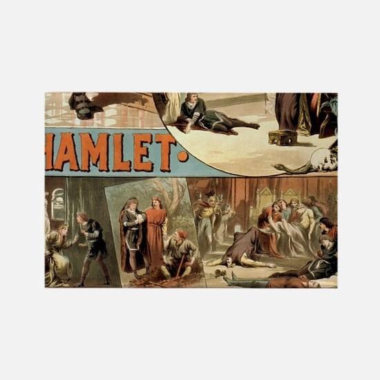 Vintage Hamlet Theatre Poster Magnets