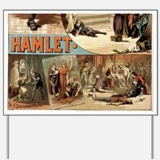 Vintage Hamlet Theatre Poster Yard Sign