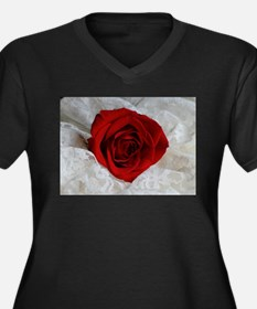 Wonderful Red Rose Plus Size T-Shirt