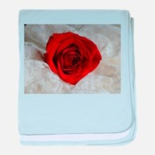 Wonderful Red Rose baby blanket