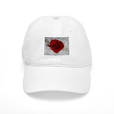 Wonderful Red Rose Baseball Baseball Cap