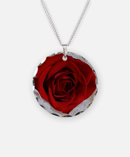 Wonderful Red Rose Necklace