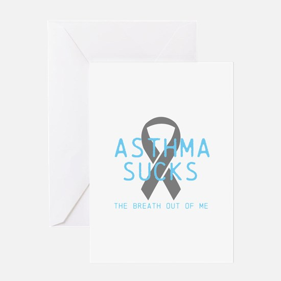 Asthma Sucks Greeting Card