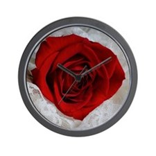 Wonderful Red Rose Wall Clock