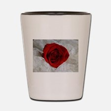 Wonderful Red Rose Shot Glass