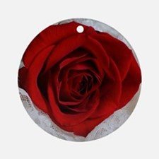 Wonderful Red Rose Round Ornament