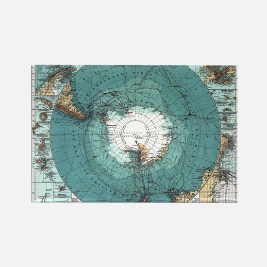 Vintage Antarctica Map Magnets