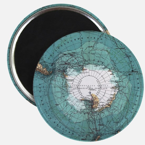 Vintage Antarctica Map Magnets