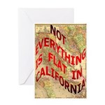 Flat California Greeting Card