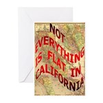 Flat California Greeting Cards (Pk of 10)