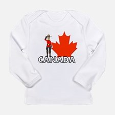 Funny Canada day Long Sleeve Infant T-Shirt