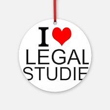 I Love Legal Studies Round Ornament