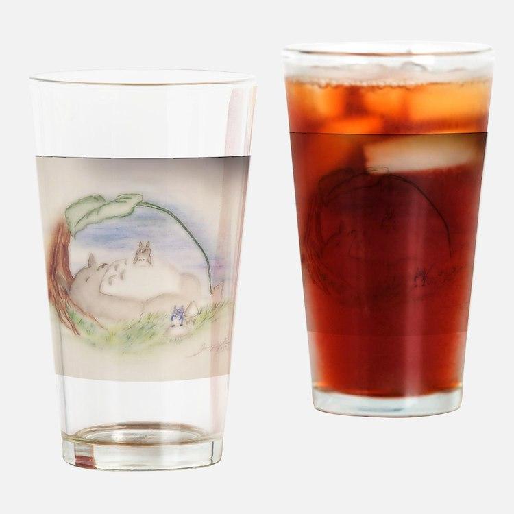 Cute Totoro Drinking Glass