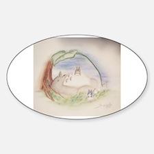 Cute Totoro Sticker (Oval)