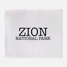 Zion National Park ZNP Throw Blanket