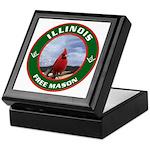 Illinois Free Mason Keepsake Box