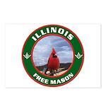 Illinois Free Mason Postcards (Package of 8)