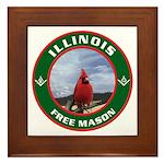 Illinois Free Mason Framed Tile