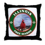 Illinois Free Mason Throw Pillow