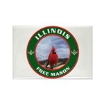 Illinois Free Mason Rectangle Magnet (10 pack)
