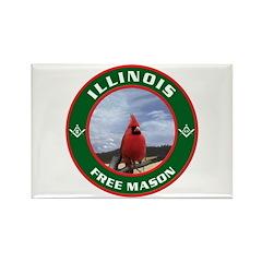 Illinois Free Mason Rectangle Magnet (100 pack)