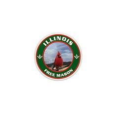 Illinois Free Mason Mini Button (100 pack)