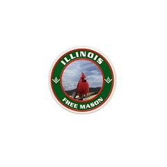 Illinois Free Mason Mini Button
