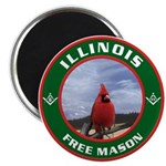 Illinois Free Mason Magnet