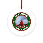 Illinois Free Mason Ornament (Round)