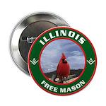 Illinois Free Mason Button