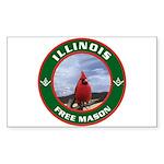 Illinois Free Mason Rectangle Sticker
