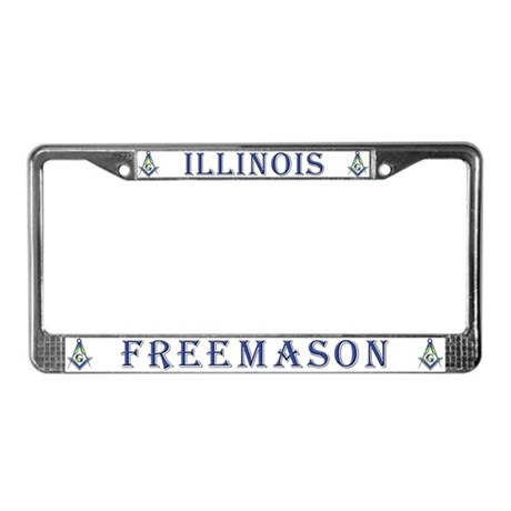 Illinois Free Mason License Plate Frame