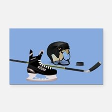 Hockey elements Rectangle Car Magnet