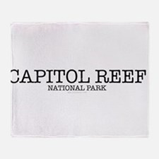 Capital Reef National Park CNP Throw Blanket