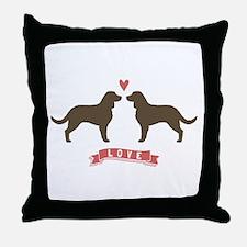 American Water Spaniel Love Throw Pillow