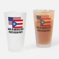 Puerto Rican Parts Drinking Glass