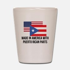 Puerto Rican Parts Shot Glass