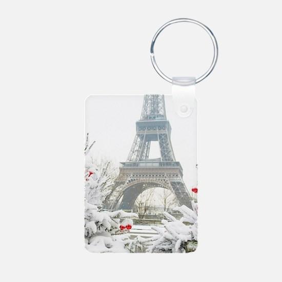 Winter in Paris Keychains