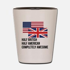 Half British Completely Awesome Shot Glass