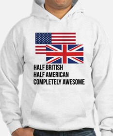 Half British Completely Awesome Hoodie