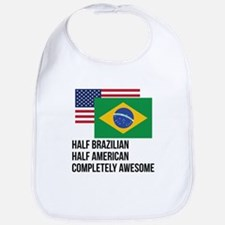 Half Brazilian Completely Awesome Bib