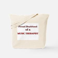 Proud Boyfriend of a Music Therapist Tote Bag
