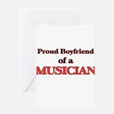 Proud Boyfriend of a Musician Greeting Cards