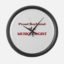 Proud Boyfriend of a Musicologist Large Wall Clock