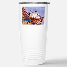 Unique Siberian husky Travel Mug