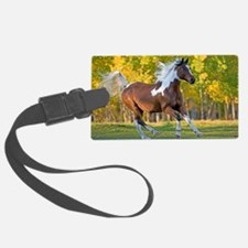 Cute Wild horses running Luggage Tag