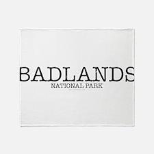 Badlands National Park BNP Throw Blanket