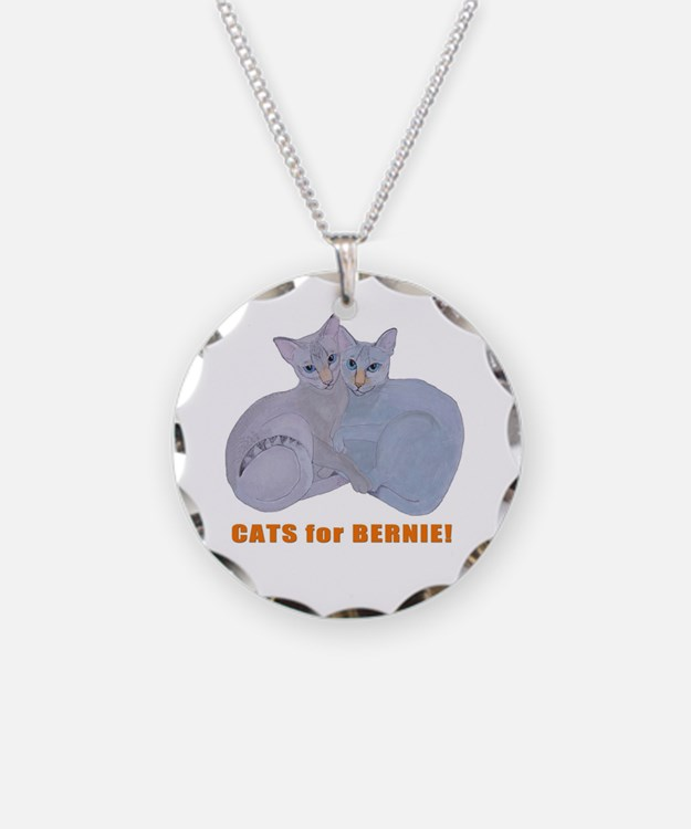 Cats for Bernie! Necklace
