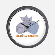 Cats for Bernie! Wall Clock