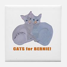 Cats for Bernie! Tile Coaster